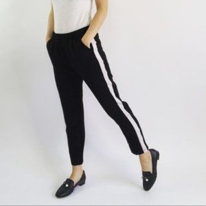 SALE Codexmode Black Striped Ankle Trouser Pants